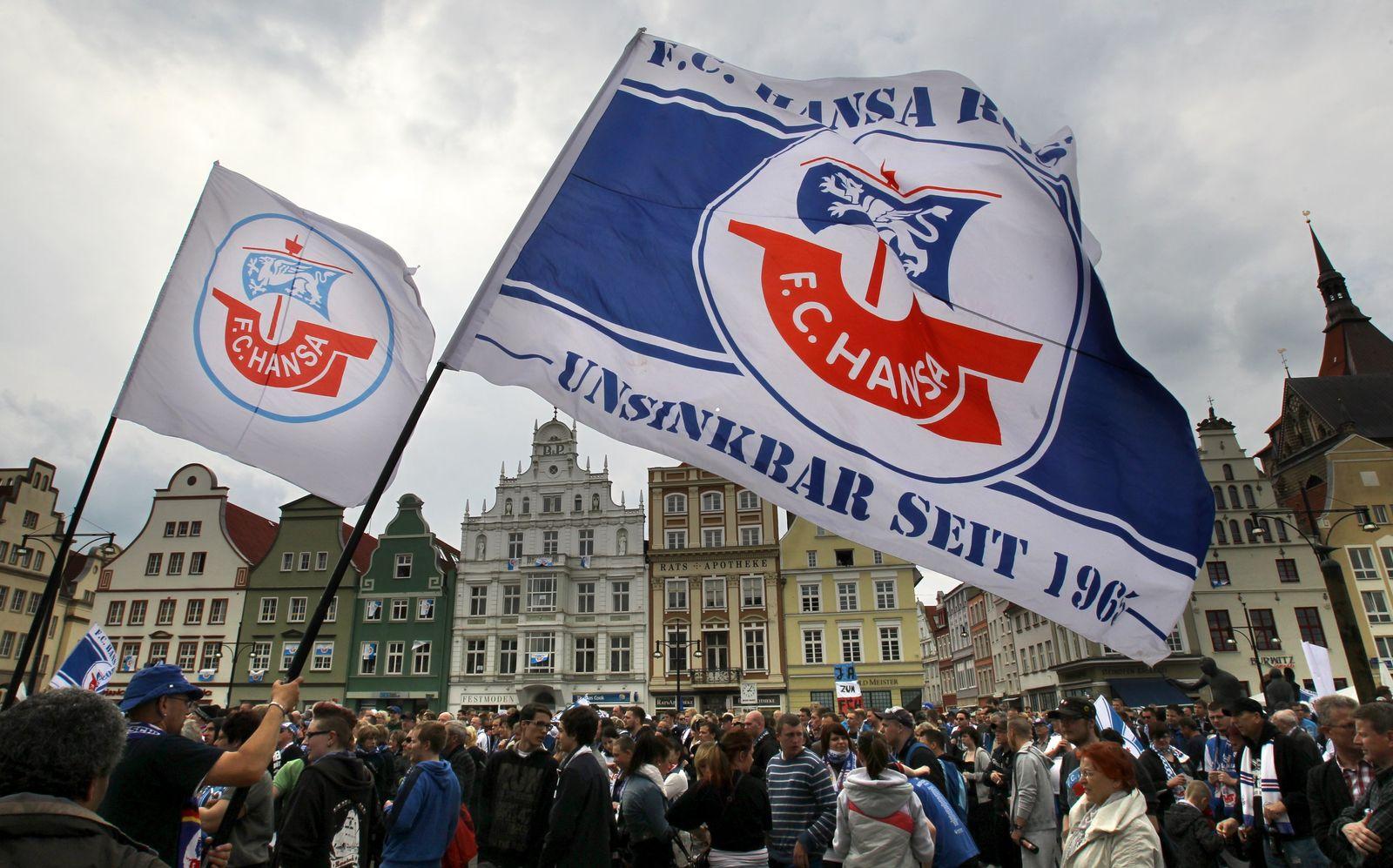 Demonstration für den FHansaC Hansa Rostock