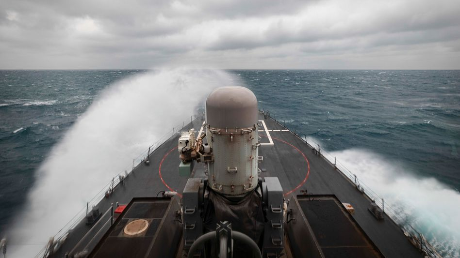 Die Taiwanstraße steht unter massiver militärischer Beobachtung, auch die USA führen in dem Seegebiet Übungen durch (Archivbild)