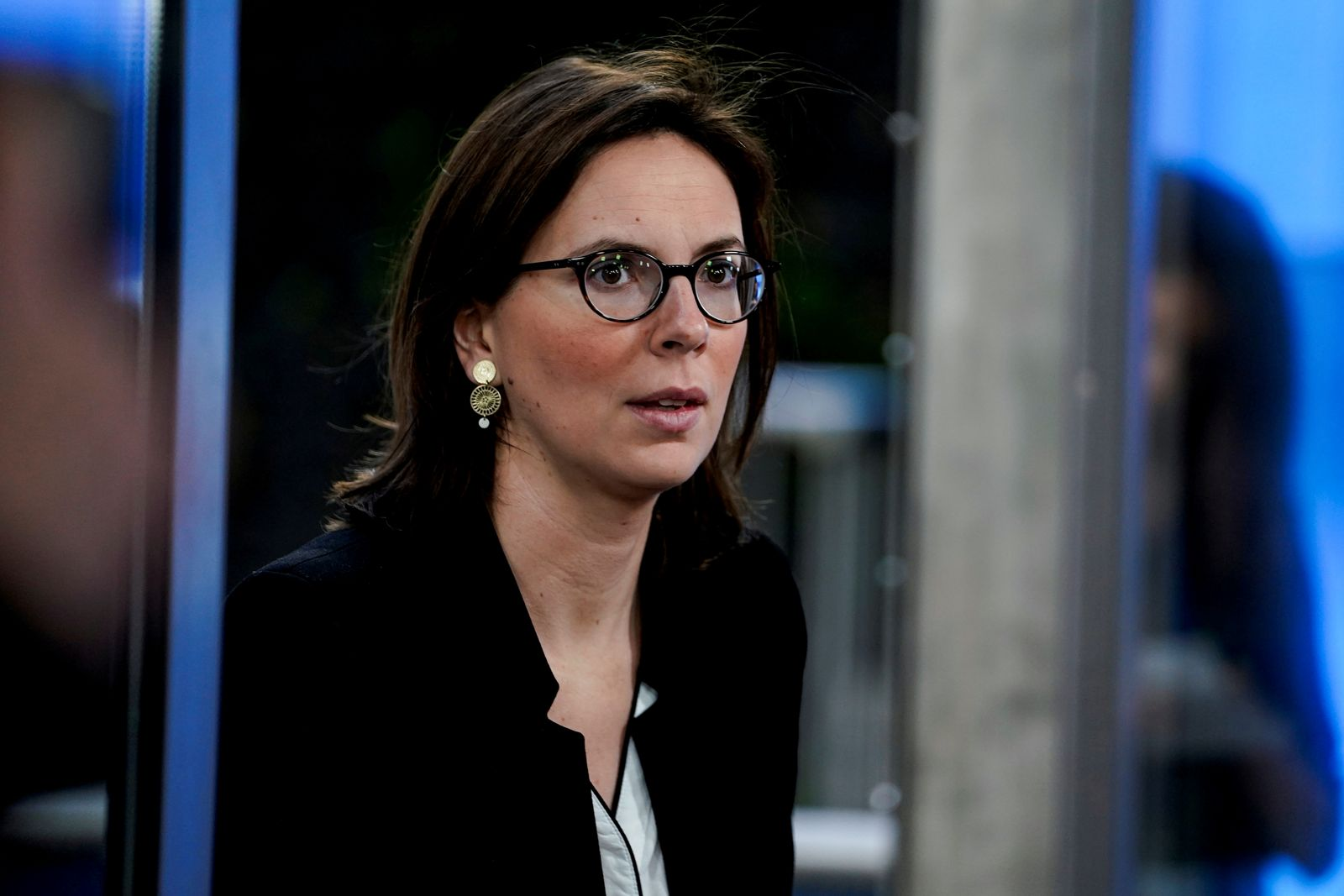 FILE PHOTO: French Junior Minister for European Affairs Amelie de Montchalin arrives at a General Affairs Councilc meeting at the EU headquarters in Brussels