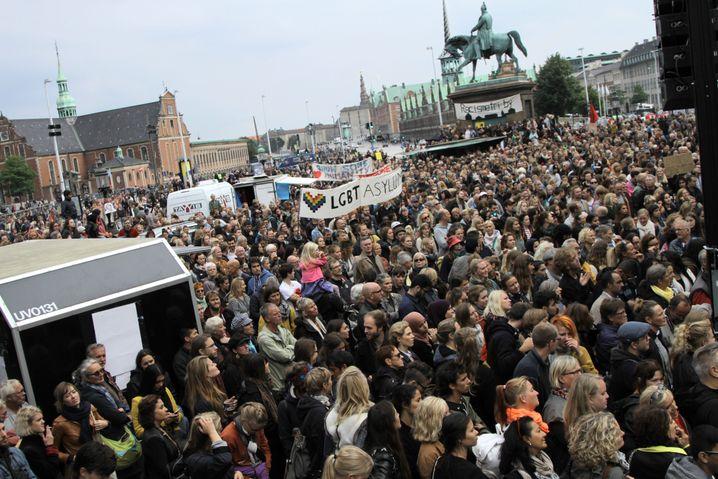 """Friedliche Kundgebung in Kopenhagen: """"Europa ist Syriens nächster Nachbar"""""""