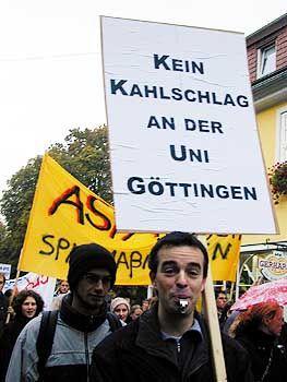 Protest in Göttingen: Aufgebrachte Studenten
