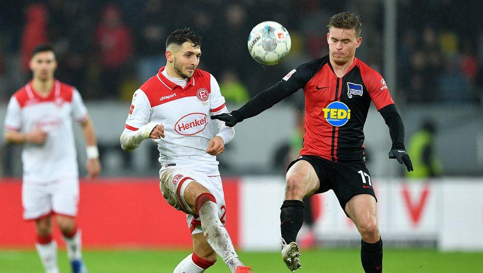 Hin und her ging es im Freitagsspiel zwischen Fortuna Düsseldorf und Hertha BSC