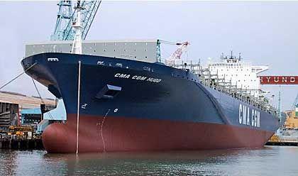 """""""Conti Everest"""": Mit einer Kapazität von 8238 Standardcontainern eines der größten Containerschiffe der Welt"""