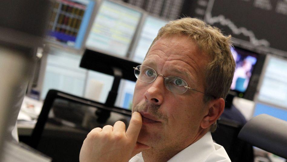 Händler an der Frankfurter Börse: Sorgen wegen der Schuldenkrise