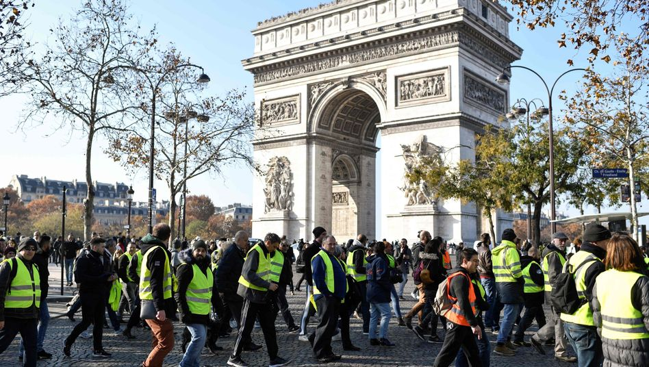 Demonstranten in Paris