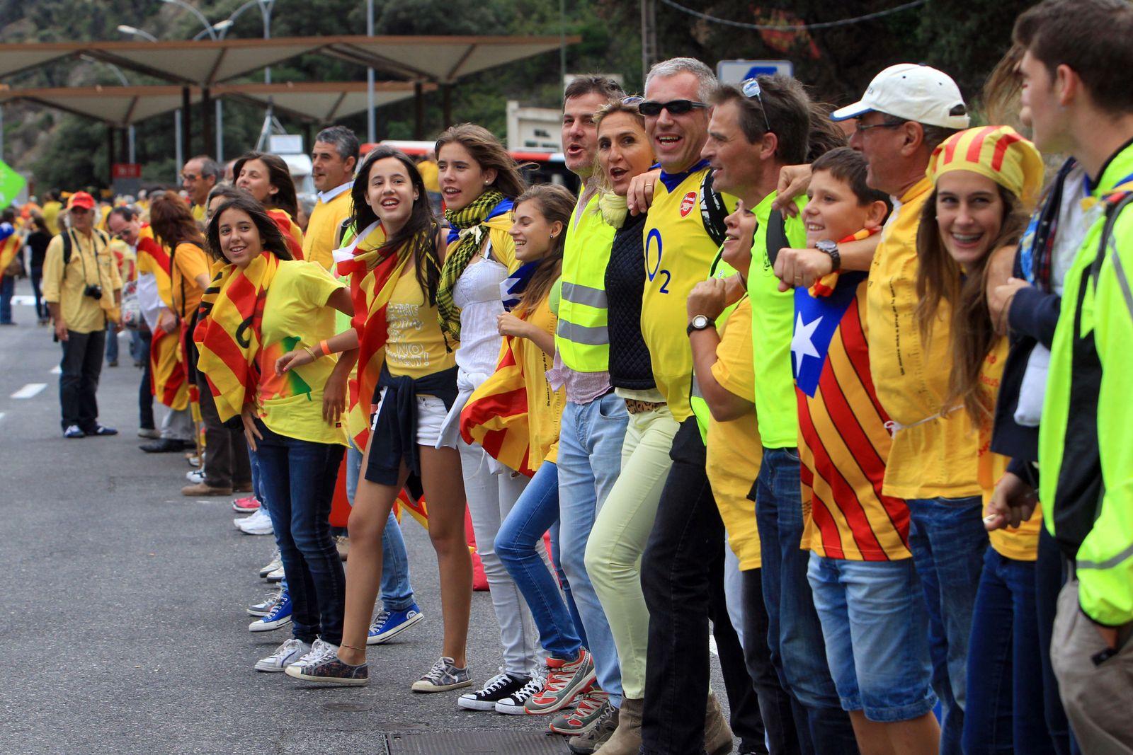 Katalonien/Spanien/Menschenkette