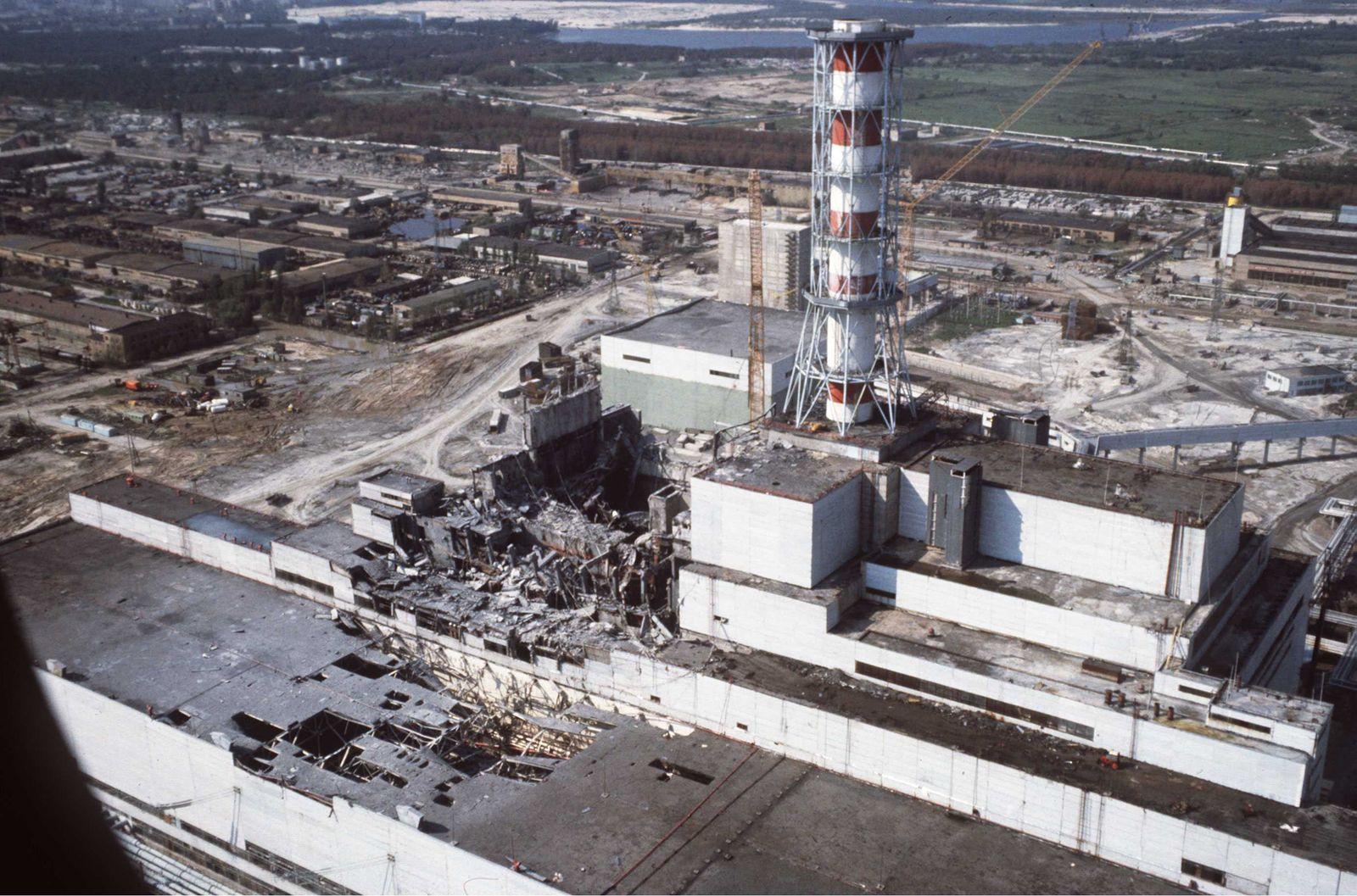 Chernobyl accident April 25-26,1986. Tchernobyl nuclear power station