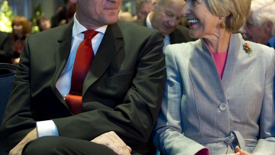 Mathias Döpfner und Friede Springer: Tango und Aktien