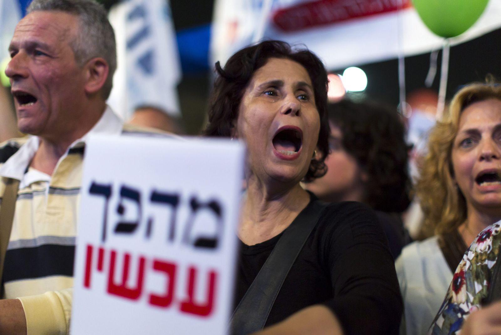 Israel Needs Change rally in rabin Square in Tel Aviv