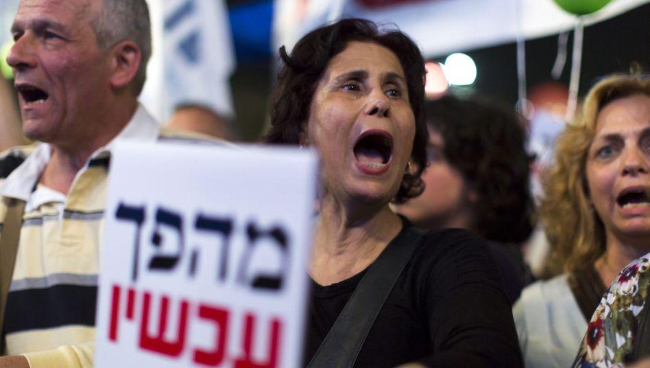 "Demonstranten in Tel Aviv: ""Bibi, geh nach Hause"""