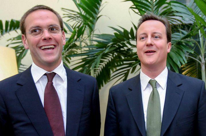 Murdoch-Sohn James mit Politiker David Cameron: Familie ist Politik, und Politik ist Familie