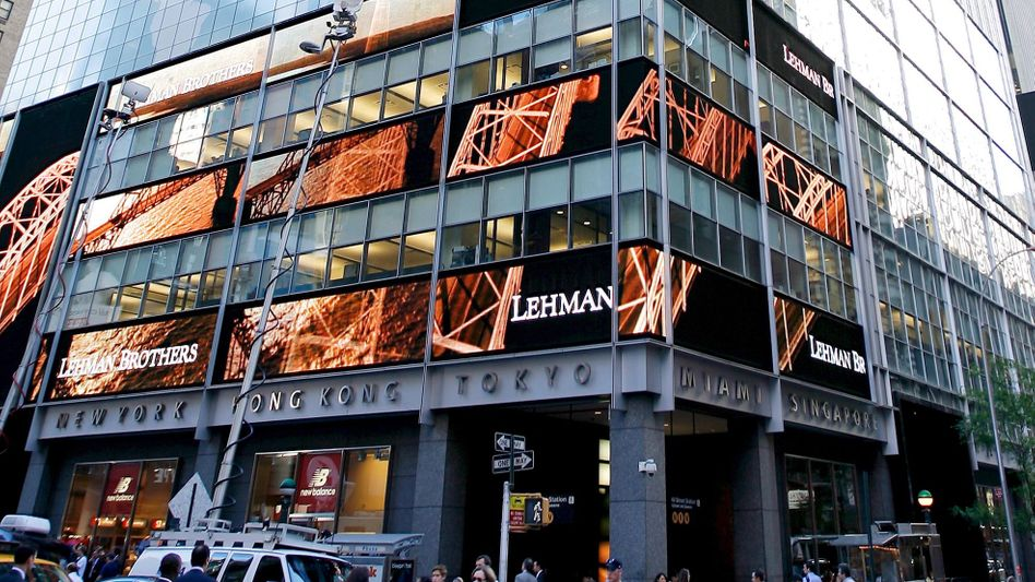 Zentrale von Lehman Brothers in New York am 15. September 2008