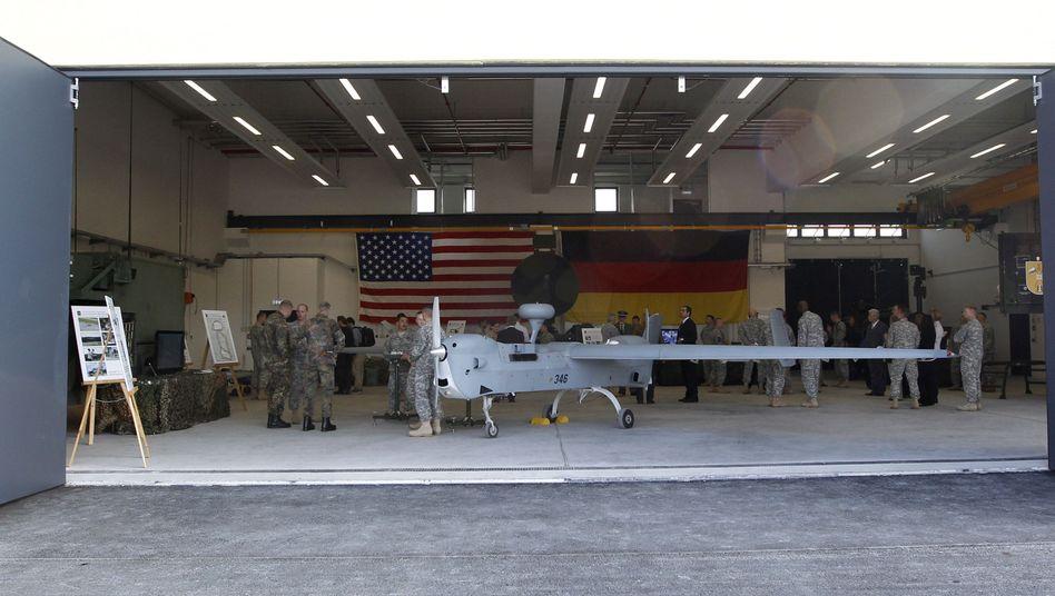 Eine Hunter-Drohne der Amerikaner in Grafenwöhr: Einmaliger Zwischenfall