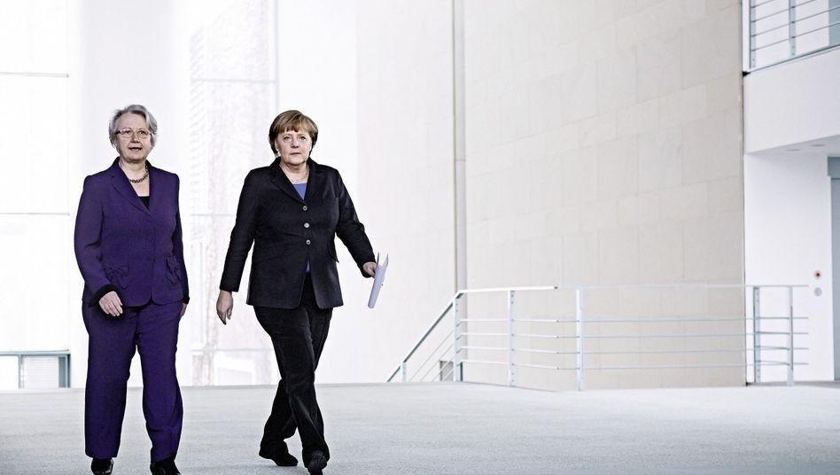 Politikerinnen Schavan, Merkel