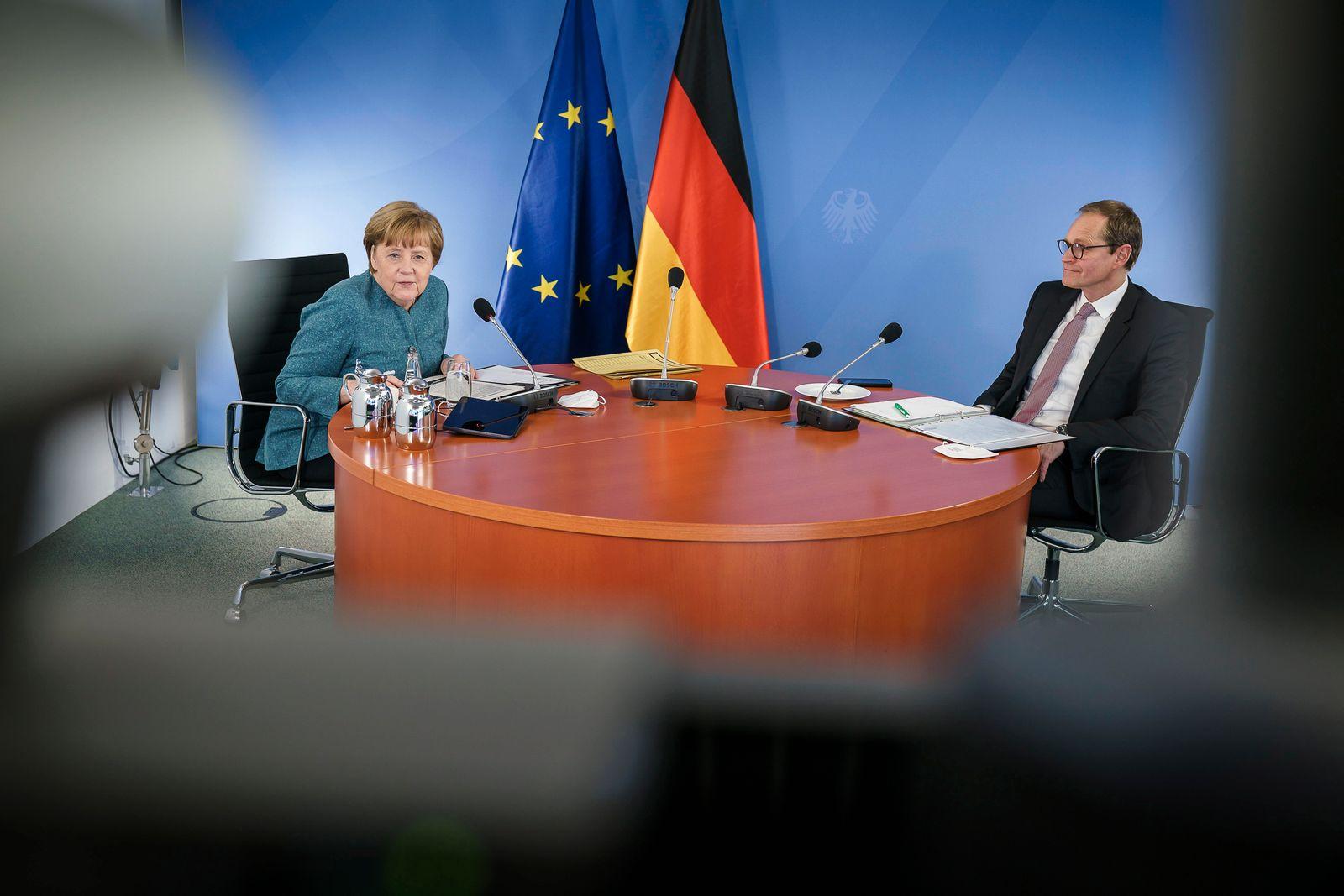Merkel meets with regional leaders