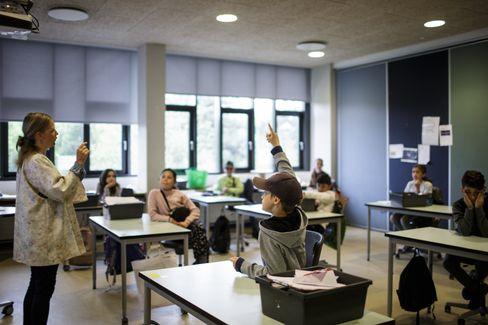 Ein Klassenzimmer in Dänemark