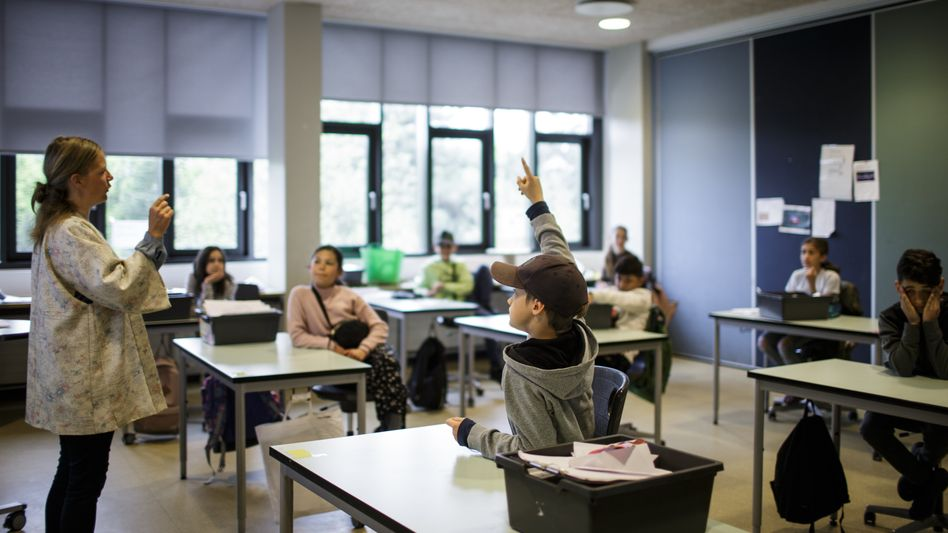 Ende April in einer Kopenhagener Grundschule: Zu der Zeit waren in Deutschland alle Klassenräume noch geschlossen