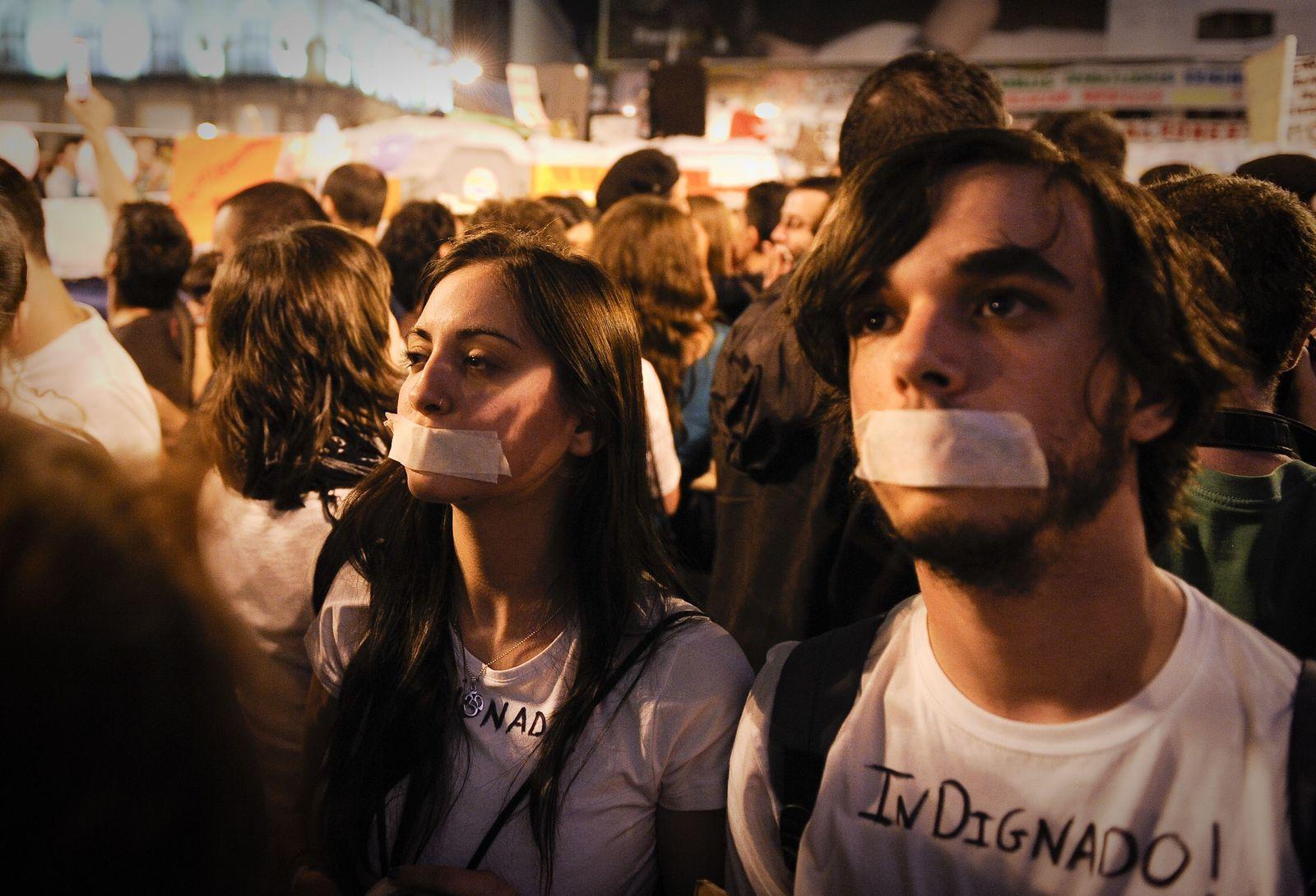 Spanien Madrid Revolte