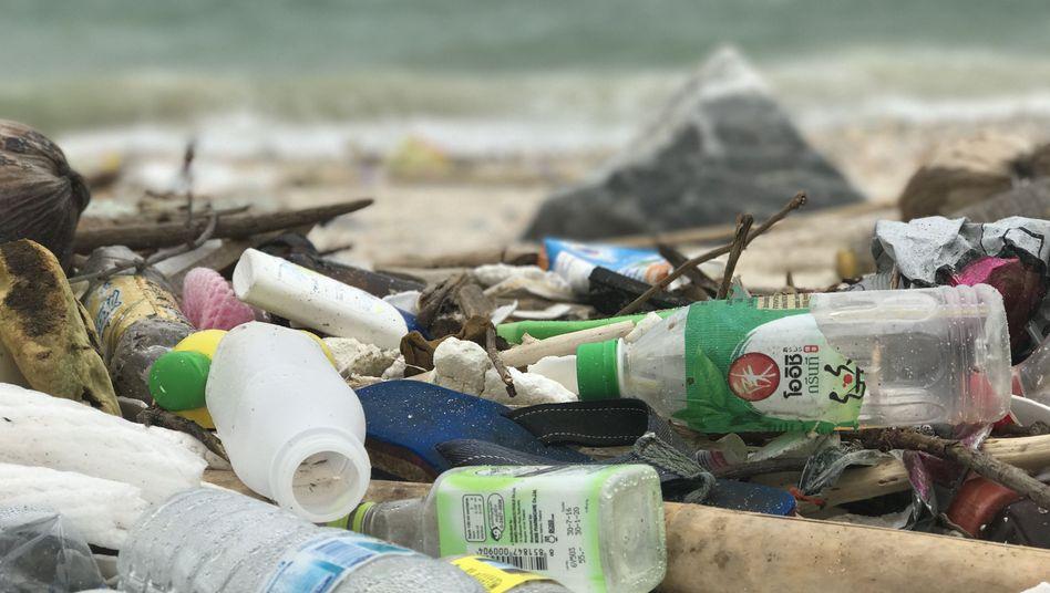 Plastikmüll am Strand von Thailand (Archiv)