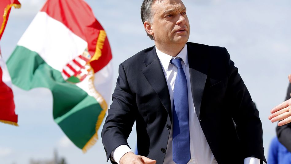 Hungarian Prime Minister Viktor Orbán in April. The controversial leader has irked Berlin by indirectly comparing Chancellor Merkel's policies to those of Hitler.