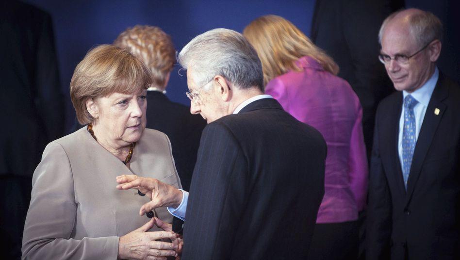 Merkel, Monti, Van Rompuy beim EU-Gipfel: Kompromisse, ziemlich kluge sogar