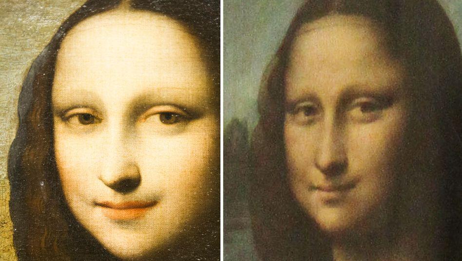 Älteres Bild (Links), Mona Lisa (Rechts): Stiftung glaubt an ein und denselben Maler