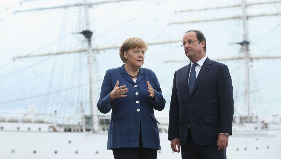 Merkel, Hollande (Archivbild): Lange Gespräche über die Ukraine