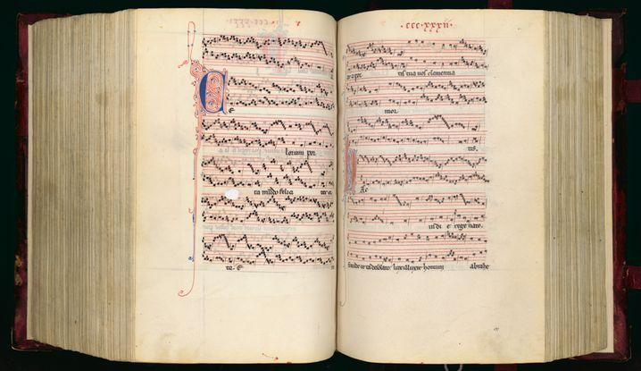 Noten von früher: So wurde Musik im Mittelalter überliefert (zum Vergrößern klicken)