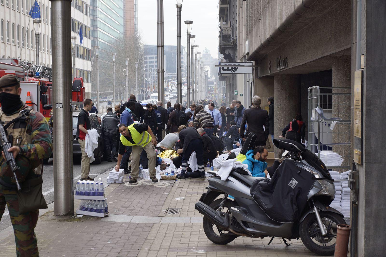 Brüssel / Explosionen / Maelbeek