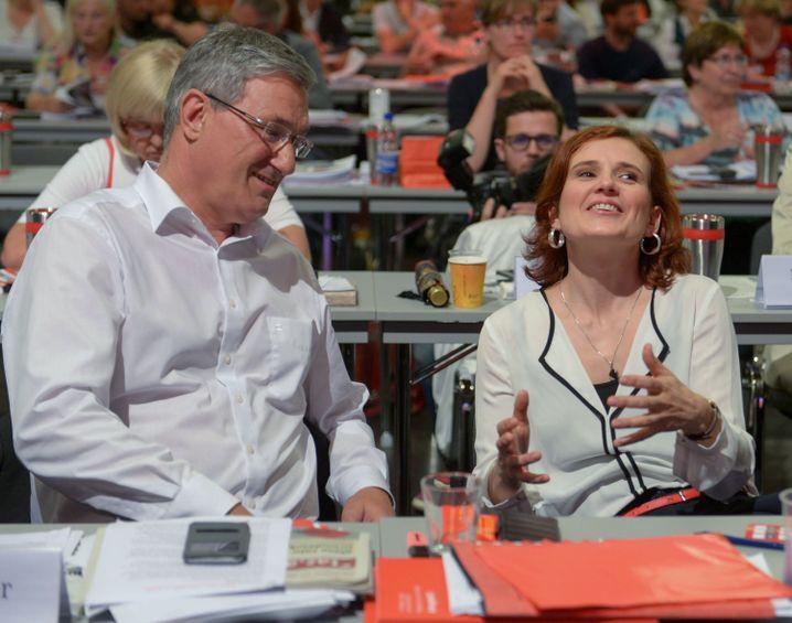 Wiedergewählte Vorsitzende Riexinger und Kipping