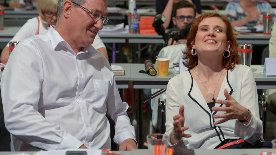 Bernd Riexinger (links) und Katja Kipping