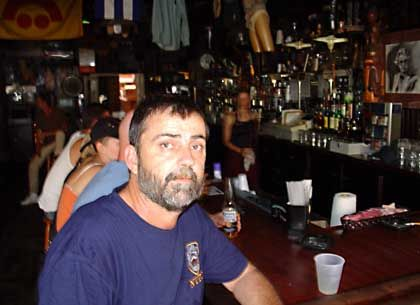 Bar owner Jim Monaghan kept his tavern open through the storm: It was cozy hanging out with my regulars.
