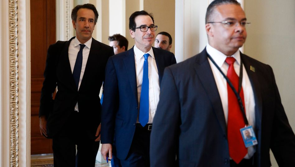 US-Finanzminister Steve Mnuchin auf dem Capitol-Hill: Einigung erzielt
