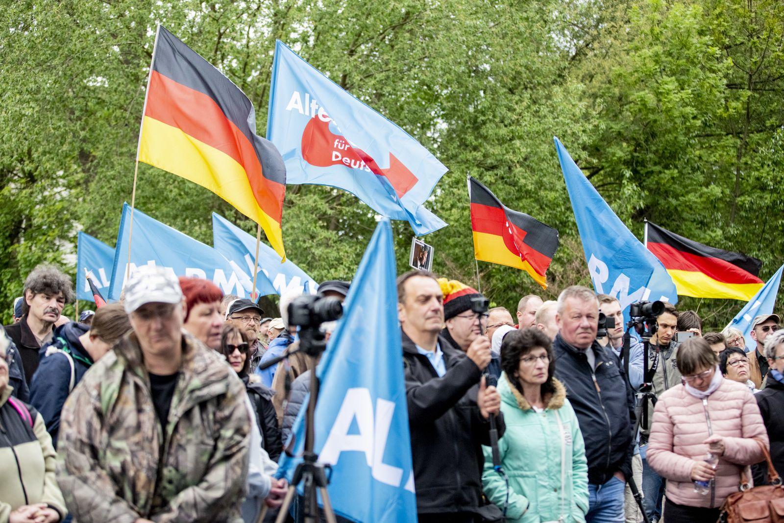 AfD-Demonstration in Eisenach