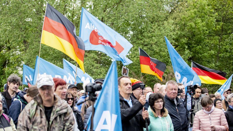 AfD-Kundgebung zum 1. Mai in Eisenach
