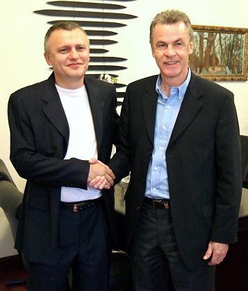 "Kiew-Präsident Surkis, Hitzfeld: ""Ich war in Kiew"""