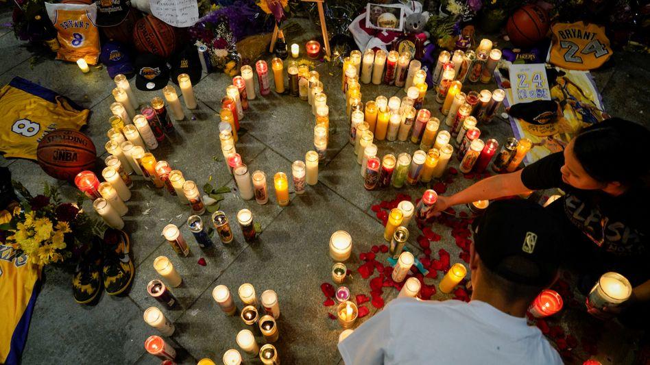 Gedenken an Kobe Bryant nach seinem Unglückstod