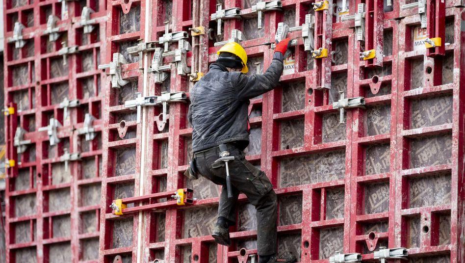 Ein Bild aus (wirtschaftlich) unbeschwerten Zeiten: Baustelle in Berlin (im Februar)