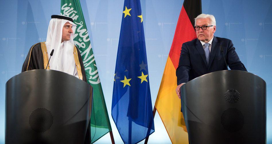 Der saudische Außenminister Adel al-Jubeir und Steinmeier