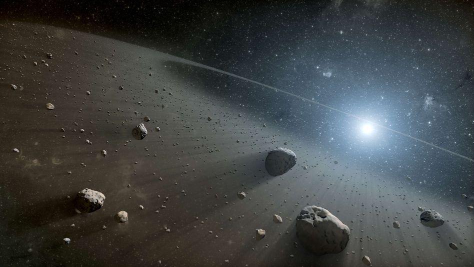 Stern KIC 8462852 (Künstlerische Darstellung): Kometen wären auch eine spektakuläre Erklärung für die ungewöhnliche Messung