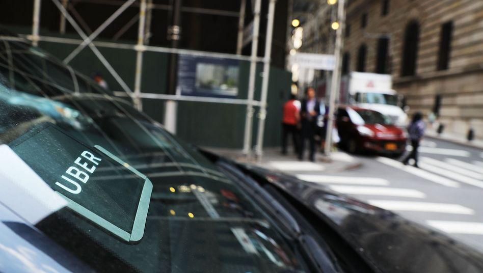 Uber-Auto in Manhattan