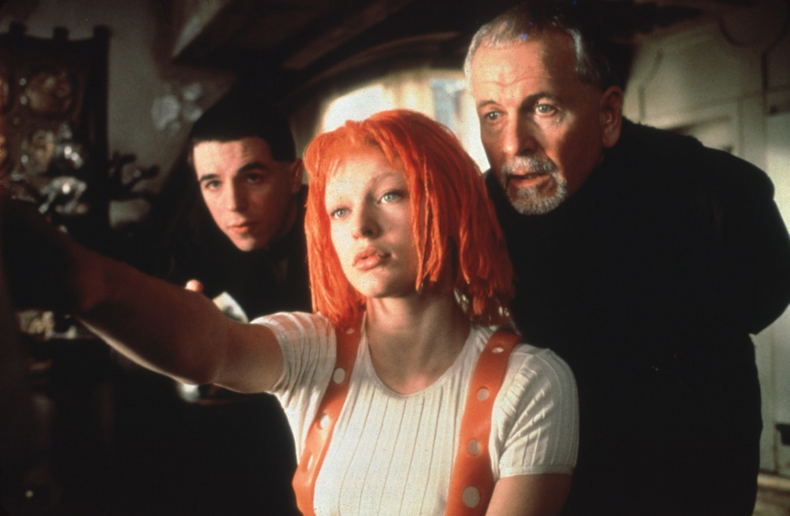 """""""The Fifth Element"""" Milla Jovovich, Ian Holm © 1997 Columbia / Tri-Star Photo by Jack English"""
