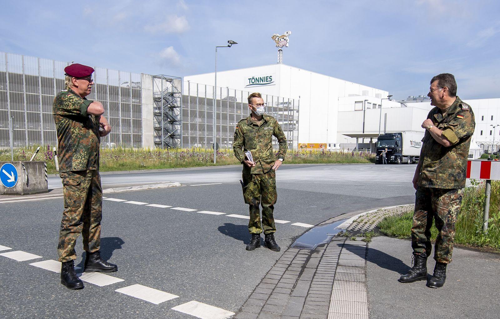 Bundeswehr unterstützt nach Corona-Ausbruch bei Tönnies