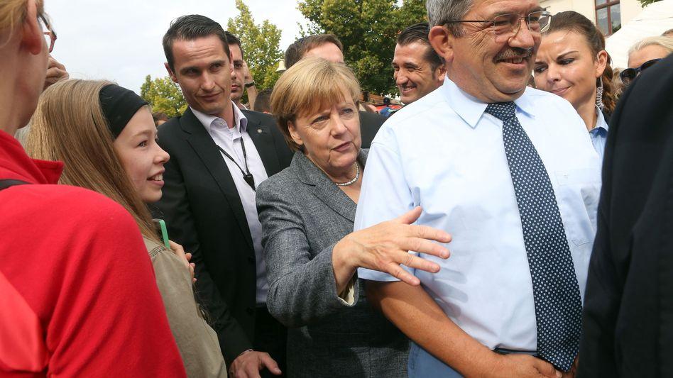 Merkel im Wahlkampf in Mecklenburg-Vorpommern