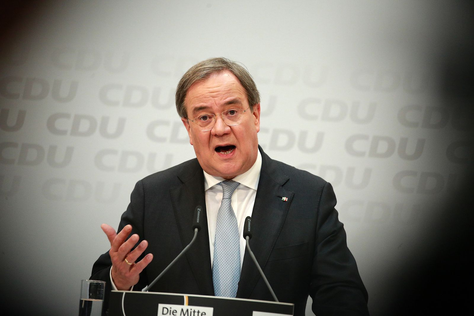 Armin Laschet Holds First Press Conference Since Election As New CDU Leader