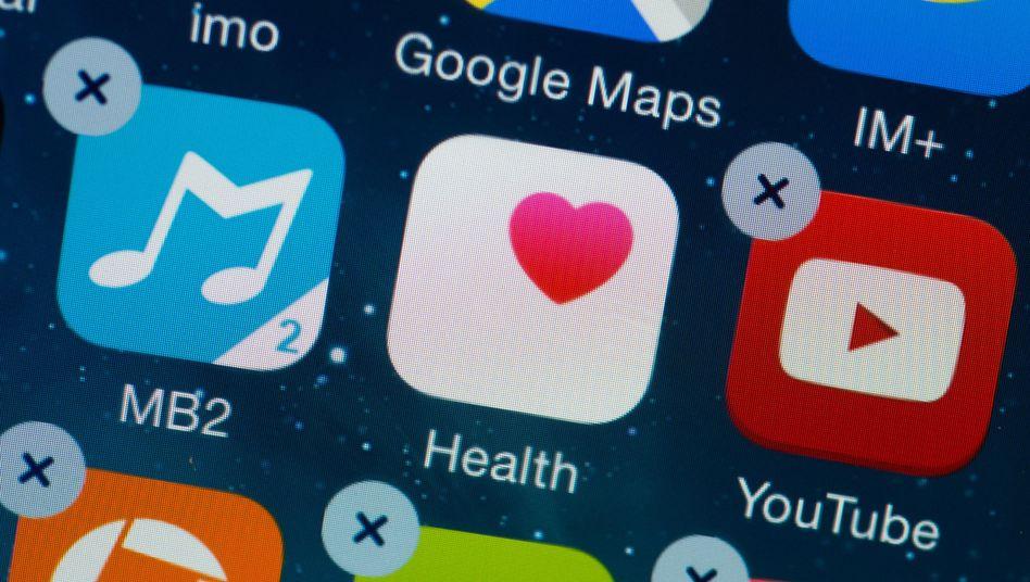 Gesundheits-App auf dem Smartphone