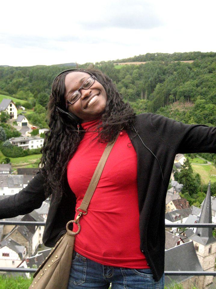Dorothy Makaza, 26, wunderte sich über manche Fragen der deutschen Austauschpartner