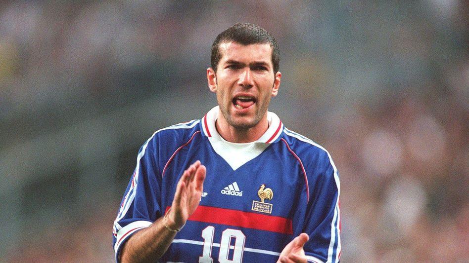 Zinédine Zidane bei der WM 1998