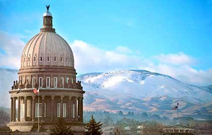 Staatskapitol in Idaho: Sackhüpfen gegen die Zeit, in nahezu allen Bundesstaaten