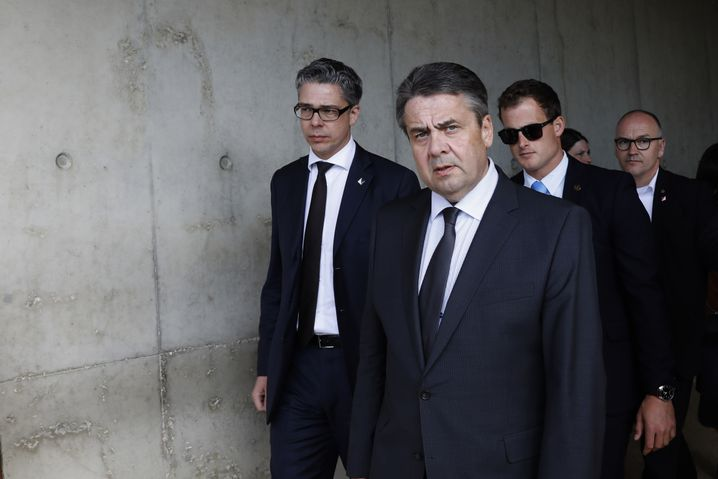 German Foreign Minister Sigmar Gabriel during his visit to Israel earlier this week.
